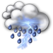 Partly sunny with thundershowers